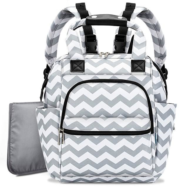 Nappy Backpack - Grey Wave
