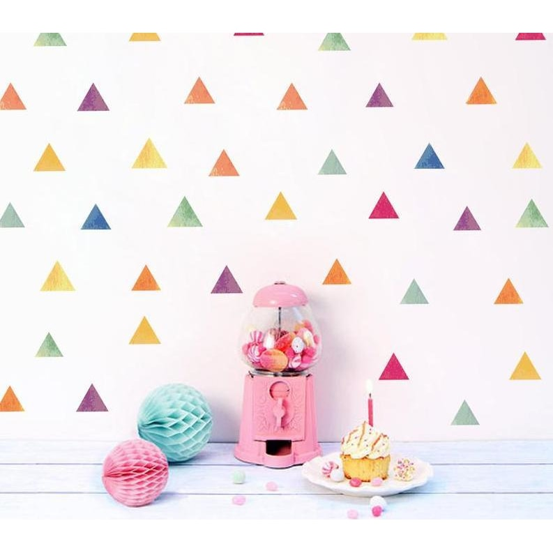 Nordic Style Colour Triangle Wall Stickers
