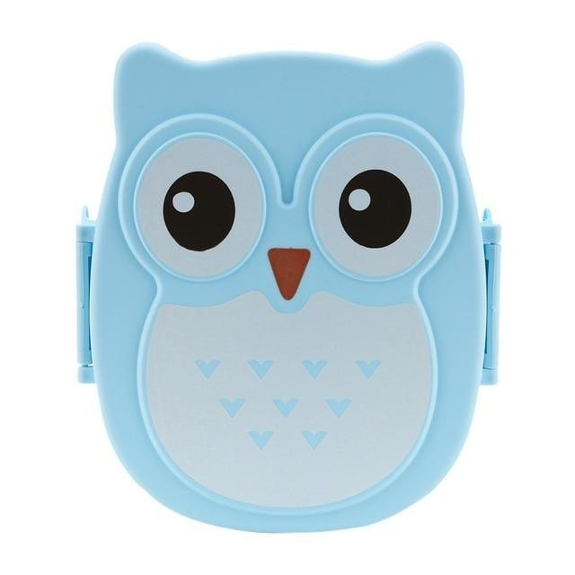 Owl Shaped Bento - Blue