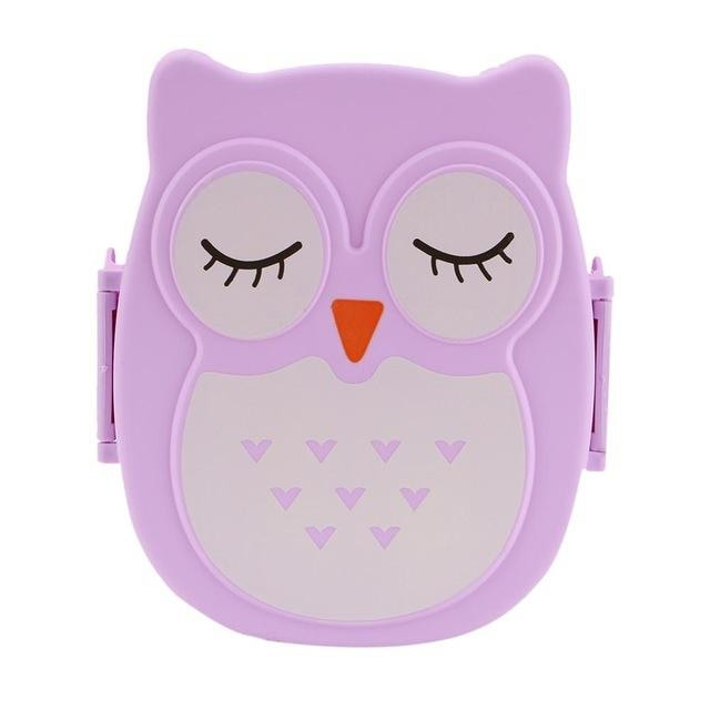 Owl Shaped Bento - Purple