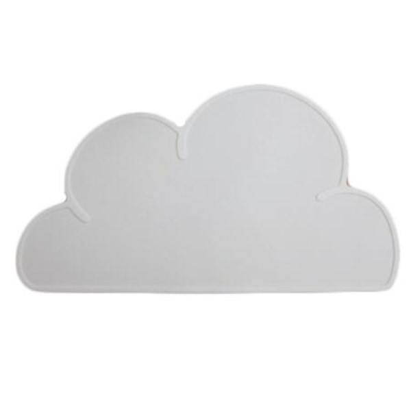 Silicone Cloud Placemat - Gray