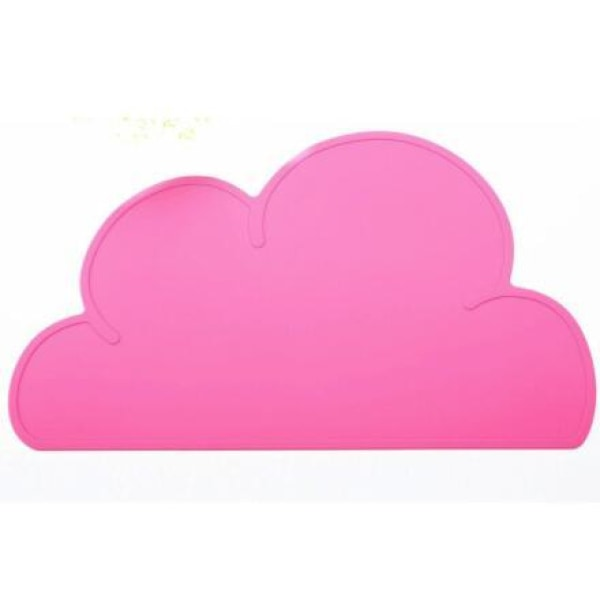 Silicone Cloud Placemat - Rose red