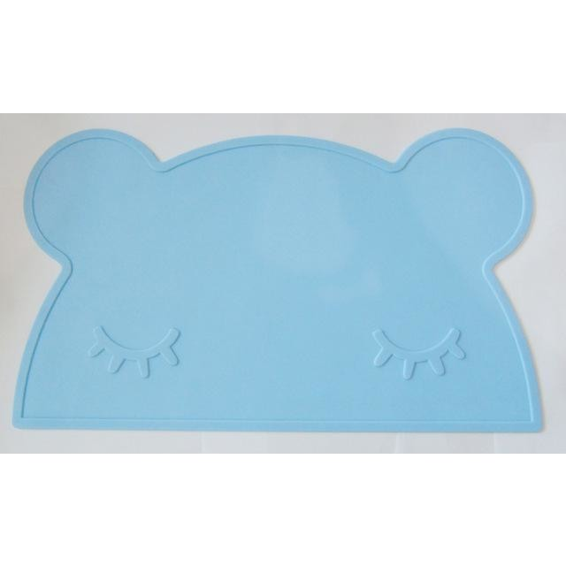 Silicone Funny Shape Placemat - Bear Blue
