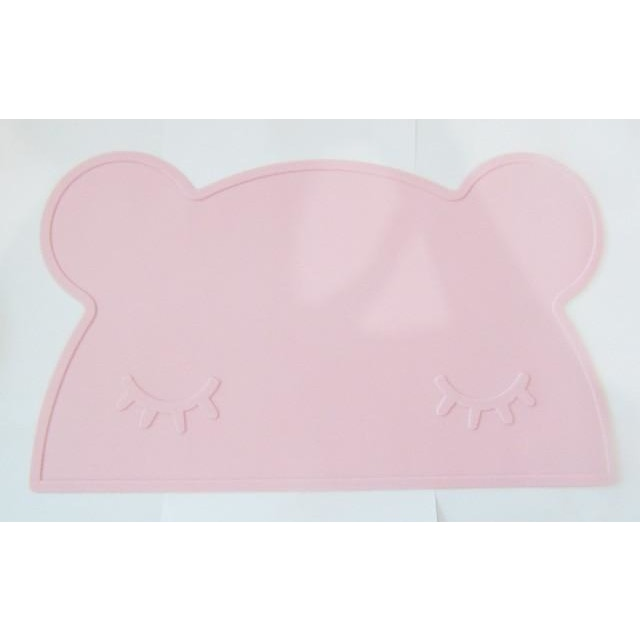 Silicone Funny Shape Placemat - Bear Pink