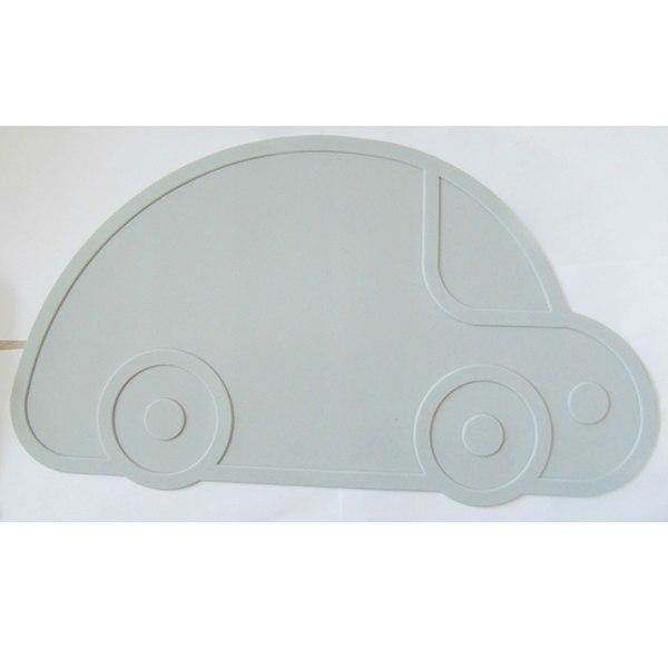 Silicone Funny Shape Placemat - Car Grey