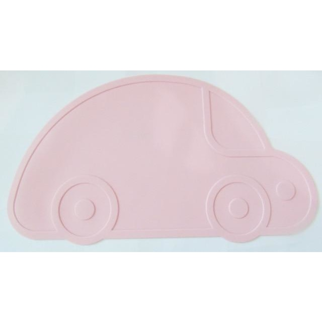 Silicone Funny Shape Placemat - Car Pink
