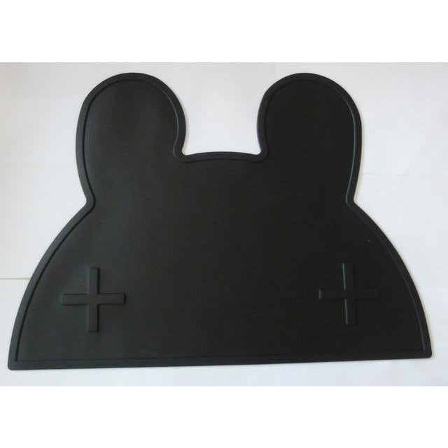 Silicone Funny Shape Placemat - Rabbit Black