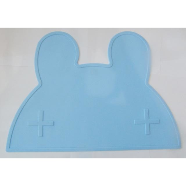 Silicone Funny Shape Placemat - Rabbit Blue
