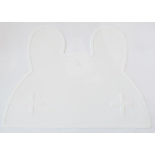 Silicone Funny Shape Placemat - Rabbit White