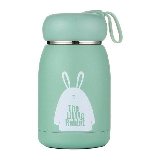 Stainless Steel Thermos Bottle - 350ml / Green
