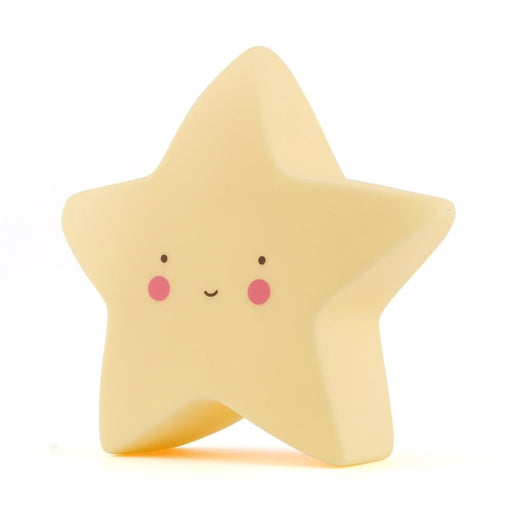 Star Shaped Night Light - yellow
