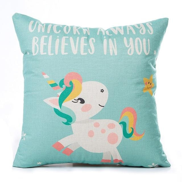 Unicorn Pillow Case - Unicorn always believes in you