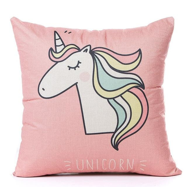 Unicorn Pillow Case - Pink