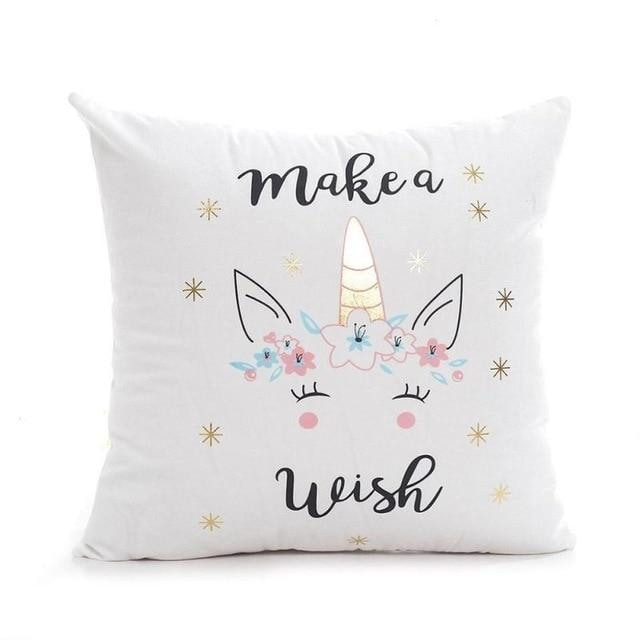 Unicorn Pillow Case - White 1