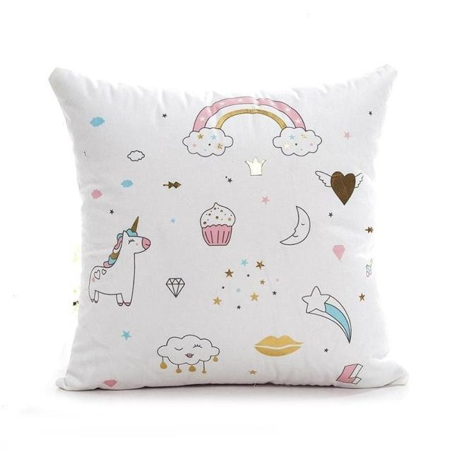 Unicorn Pillow Case - White 3