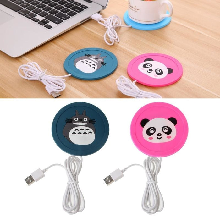 USB Cartoon Heated Coasters