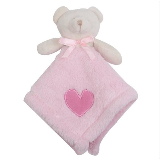 w. 1Pcs/set Cute Bear Newborn Blankie Of Baby Toys Infant Soothe Towel Newborn Baby Gift To Soothe Towel Educational Plush Toys - 2