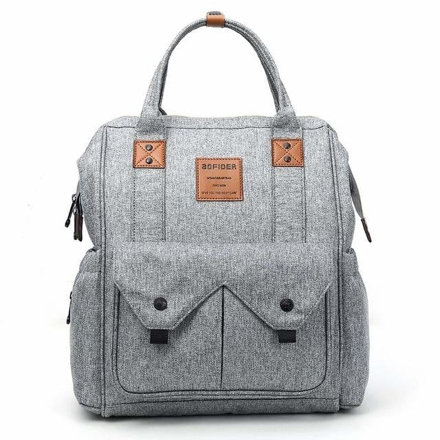 w. 2019 New Mummy backpack Maternity Nappy Mother Backpack Large Capacity Mom Baby Diaper Bag - Gray