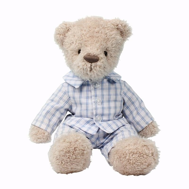 w. 21cm Lovely Teddy Bear Stuffed Animals Plush Toys Dressing T-shirt Teddy Bears Doll Kids Toys Girls Baby Gifts