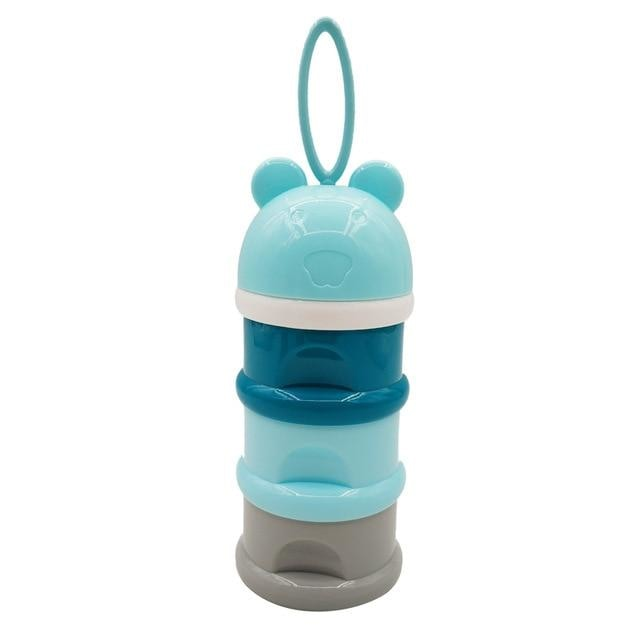 w. 3 layer Frog Style Portable Baby Food Storage - Blue