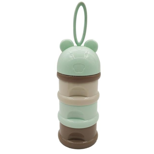 w. 3 layer Frog Style Portable Baby Food Storage - Green