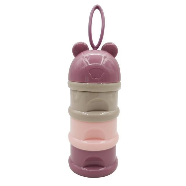 w. 3 layer Frog Style Portable Baby Food Storage - Purple