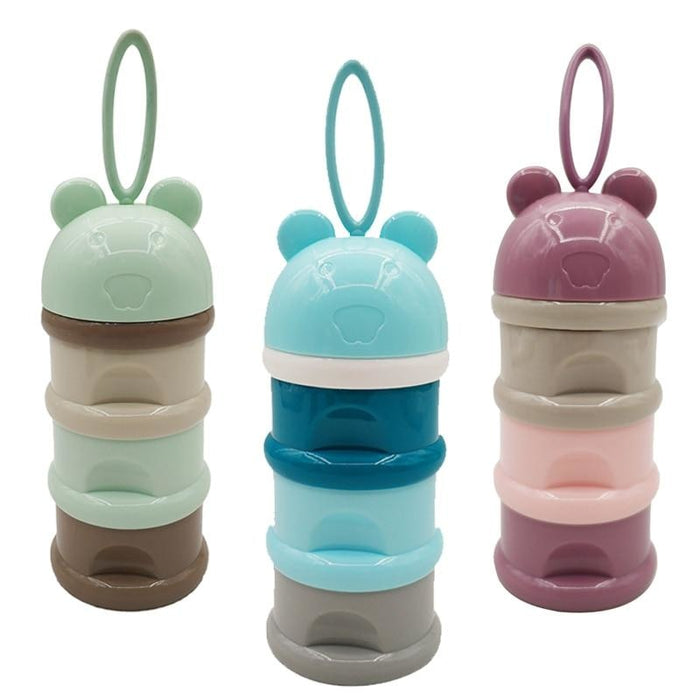 w. 3 layer Frog Style Portable Baby Food Storage