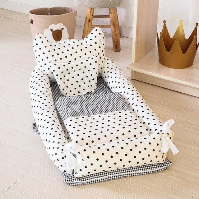 w. ALWAYSME 90X55CM Baby Bedding Accessories Quilt & Pillow & Sheets & Bumpers Co-Sleeping Crib & Cradle Bedside Cribs Travel Beds - Black