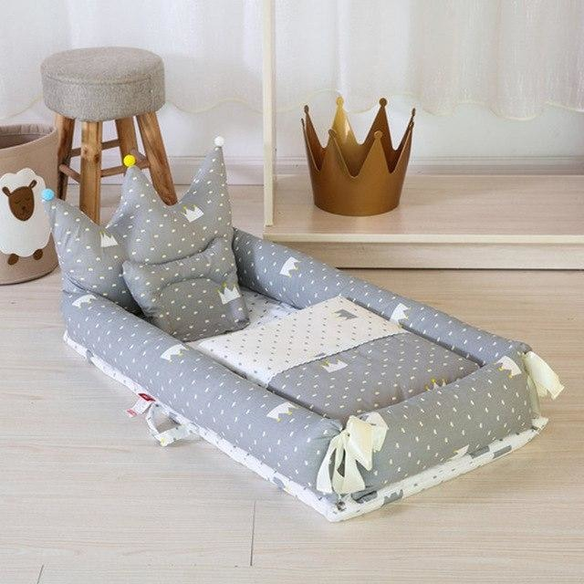 w. ALWAYSME 90X55CM Baby Bedding Accessories Quilt & Pillow & Sheets & Bumpers Co-Sleeping Crib & Cradle Bedside Cribs Travel Beds - Grey
