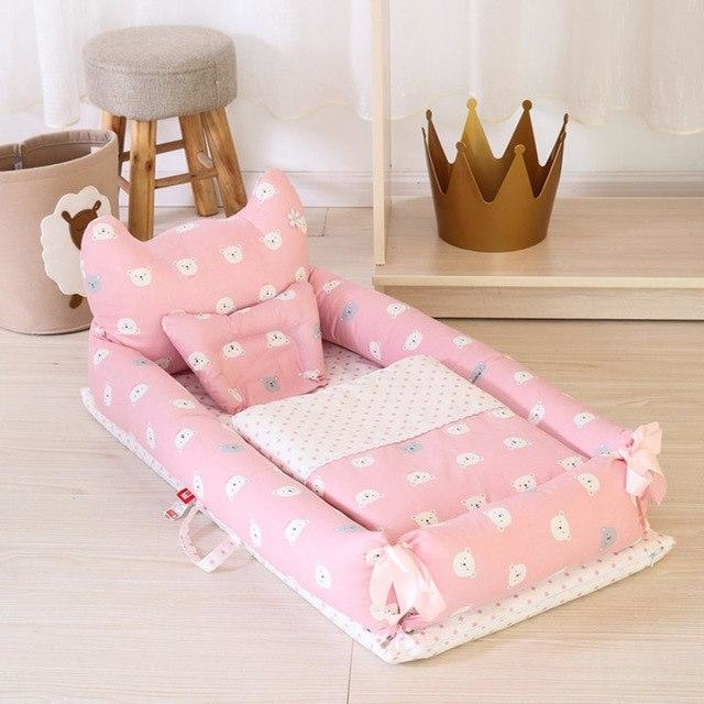w. ALWAYSME 90X55CM Baby Bedding Accessories Quilt & Pillow & Sheets & Bumpers Co-Sleeping Crib & Cradle Bedside Cribs Travel Beds - Pink