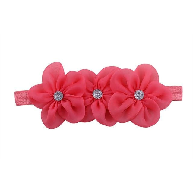w. Baby Headband Flowers Girls Pink Ribbon Hair Bands Handmade Headwear Hair Elastic Tiara For Girl Newborn Babies Hair Accessories - style4
