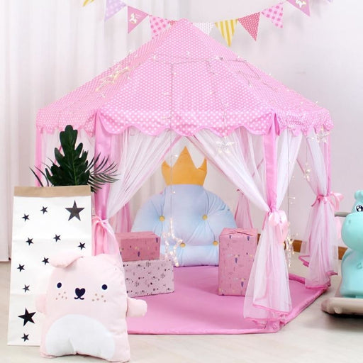 w. Baby Play Tent Portable Folding Prince Princess Tent Children Castle Play House Kid Gift Outdoor Beach Tent Toys For Kids Wigwam