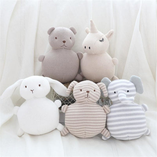 w. Baby Rattle Toys Doll Baby Soft Knitting Toys Children Sleeping Mate Stuffed &Plush Animal Baby Toys Gift Christmas For Infant