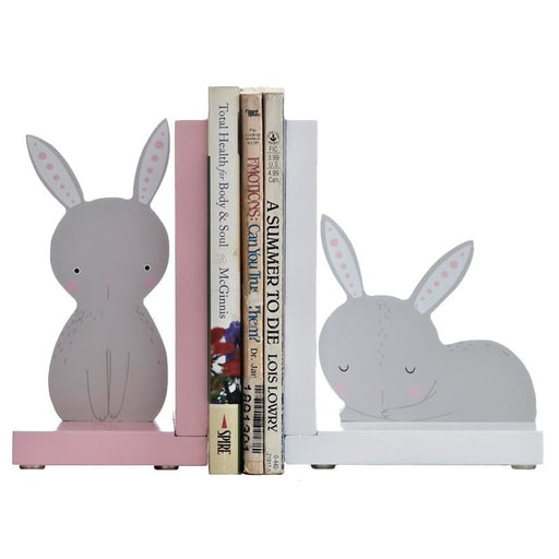w. Creative Rabbit Decorative Bookends Book End Shelf Bookend Holder Supplies Kid Study Decorate Furnishing Articles