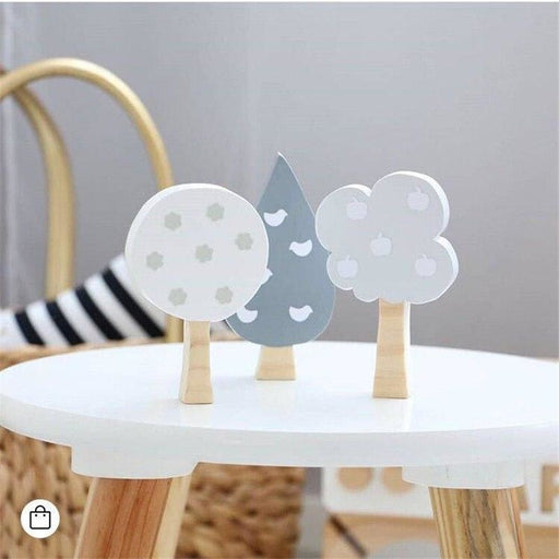 w. Cute Nordic Woodland Wood Tree Block Decorative Handmade Kids Bookends Wall Decor Wooden Tree Kids Room Decoration Props