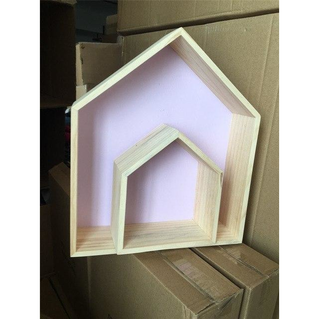 w. Double layer wooden house - purple