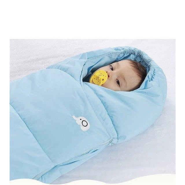 w. EASY BIG Winter Down Cotton Baby Sleeping Bag Windproof Thickening Warm 0-36M Baby Footmuff BCS0026 - Blue / 3M