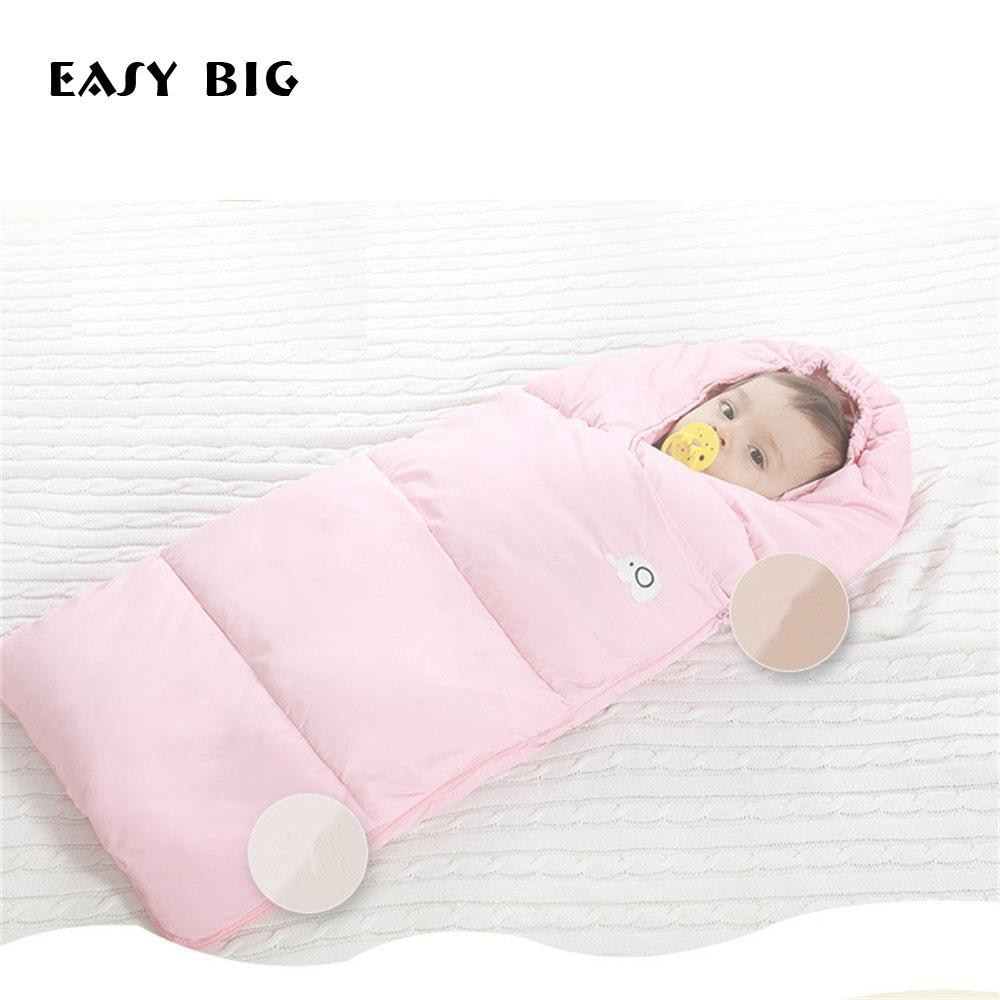 w. EASY BIG Winter Down Cotton Baby Sleeping Bag Windproof Thickening Warm 0-36M Baby Footmuff BCS0026