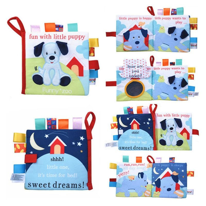 w. Soft 3D Baby Cloth Book Newborn Early Educational Quiet Book Infant Cognitive Can Bite Reading Matter Ring Paper Rattles Book