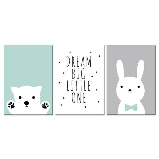 Wall Picture Canvas - 13x18cm Unframed / 3 pcs Set