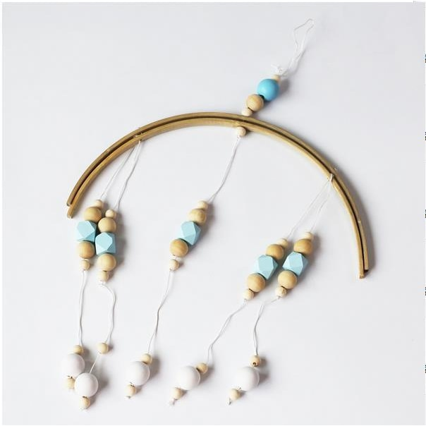 Wooden Beads Wind Chimes - Blue