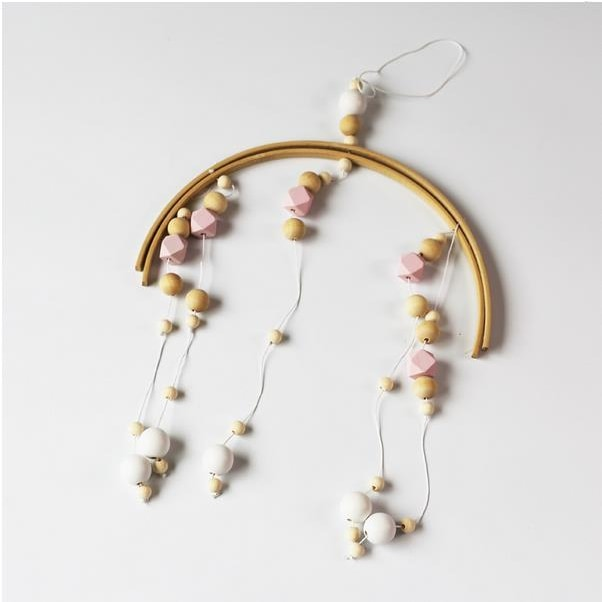 Wooden Beads Wind Chimes - Pink