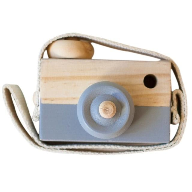 Wooden Camera Toys - Grey