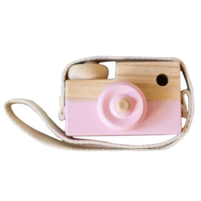 Wooden Camera Toys - Pink