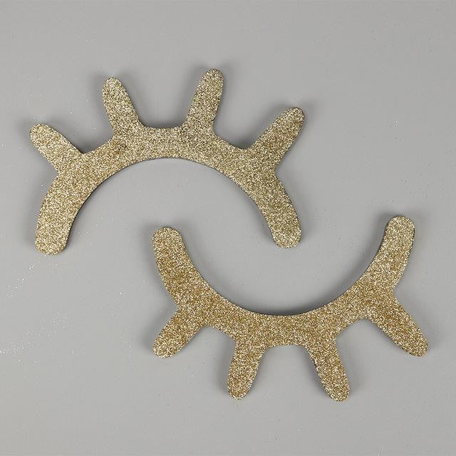 Wooden Eyelash Wall Decoration - Gold