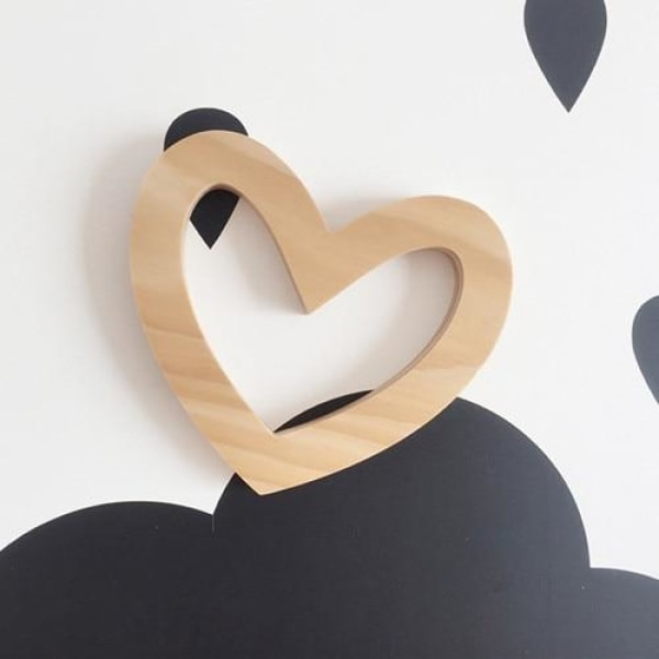 Wooden Wall Ornaments - Heart