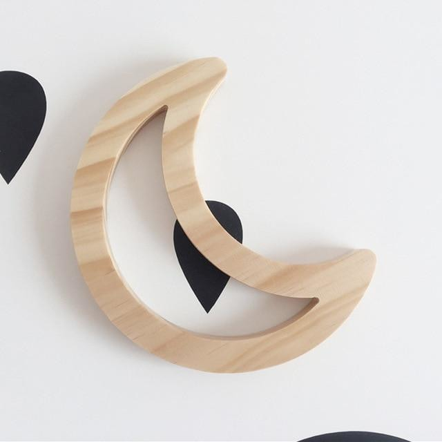 Wooden Wall Ornaments - Moon