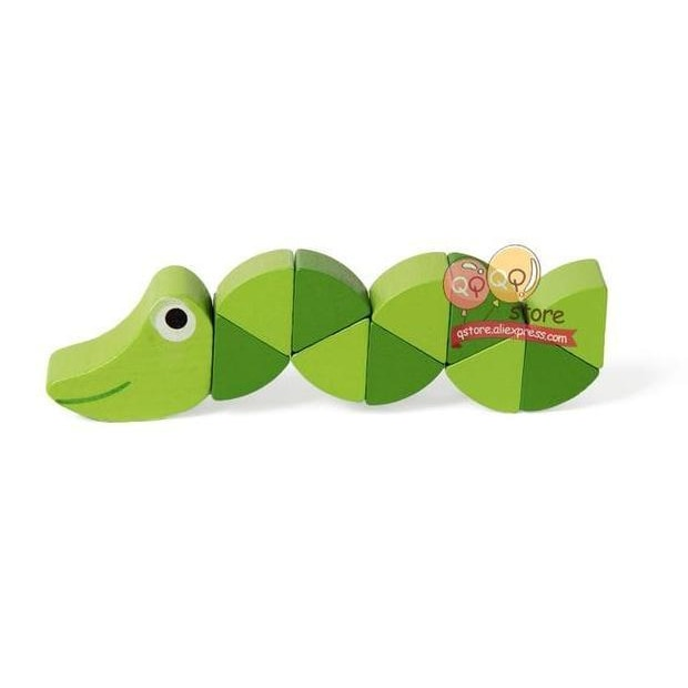 Wooden Worm Puzzles - Alligator