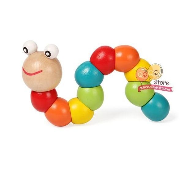 Wooden Worm Puzzles - Caterpillar