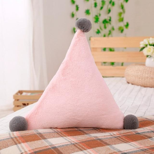 z.Crown Heart & Star Plush Pillows - Pink Triangle Pillow